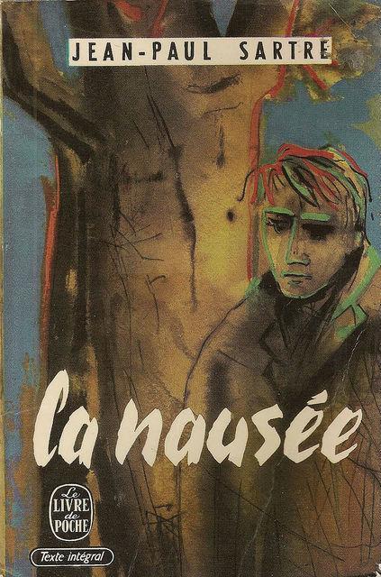 """Жан-Поль Сартр, обложка книги """"Тошнота"""" #1"""