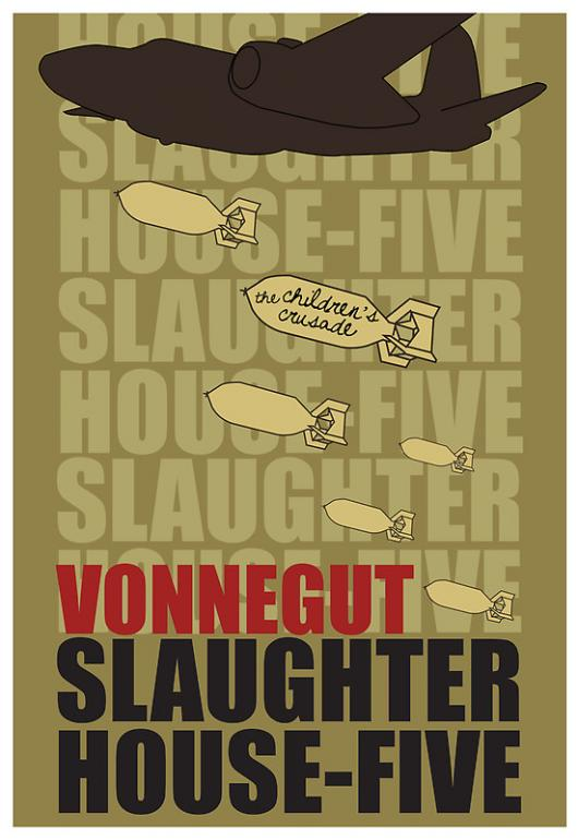 """Обложка книги Курта Воннегута """"Бойня номер пять или Крестовый поход детей"""""""